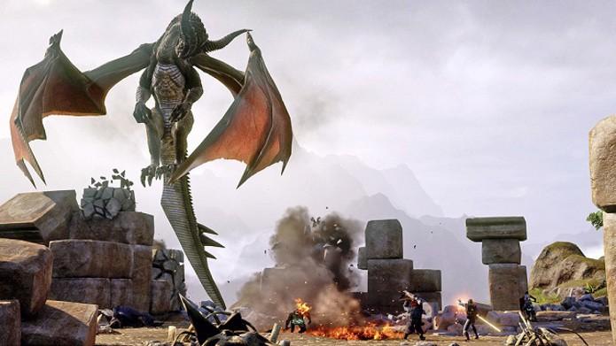 Conheça bem o local onde irá batalhar. Procure achar sempre pontos onde poderá se defender contra ataques do dragão quando ele estiver voando (Foto: Divulgação)