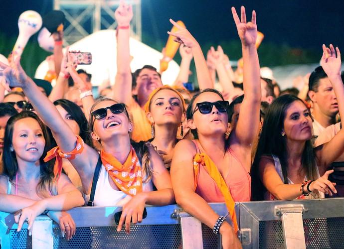 Público feminino no show do Raimundos e Conecrew Diretoria (Foto: Jefferson Bernardes/ Agência Preview)