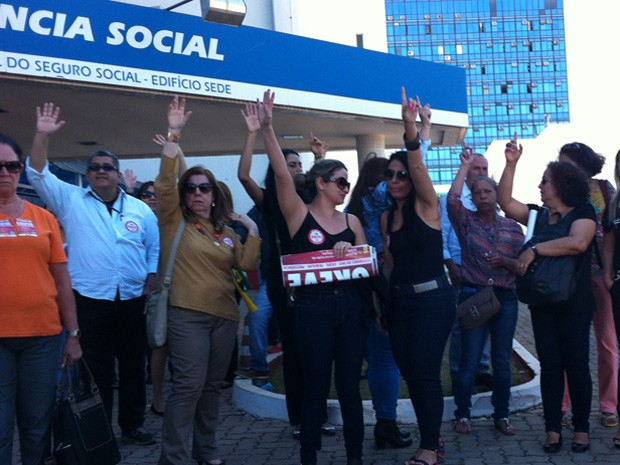 Servidores do INSS decidem greve no Distrito Federal (Foto: Gabriel Luiz/G1)