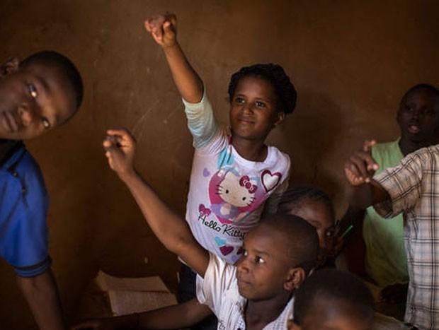 Sala de aula em Mali (Foto: Marco Dormino/ Unesco)