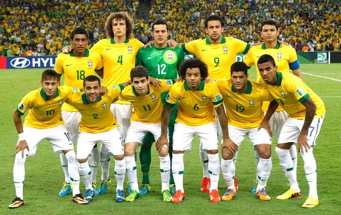 Brasil Posado final Copa das Confederações 2013 (Foto: Agência AP )