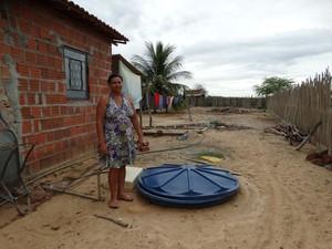 Agricultora Lucicleide Maria do Nascimento (Foto: Paula Cavalcante/ G1)