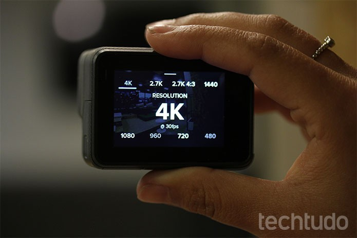 Hero 5 Black deve custar R$ 2.199 com tela touch e vídeo em 4K (Foto: Luana Marfim/TechTudo) (Foto: Hero 5 Black deve custar R$ 2.199 com tela touch e vídeo em 4K (Foto: Luana Marfim/TechTudo))