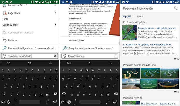 Usuário pode pesquisar conteúdo no Bing para Word e Excel através do Diga-me (Foto: Reprodução/Elson de Souza)