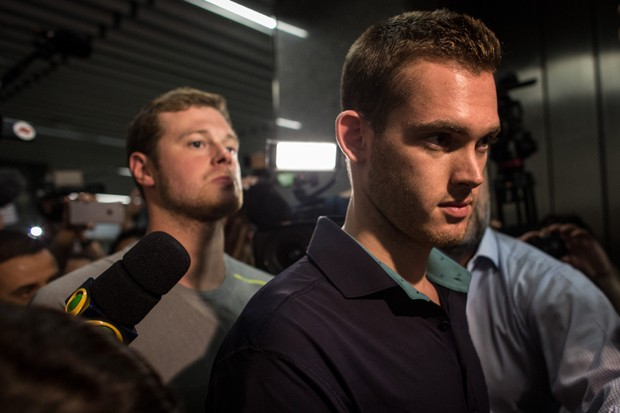 Os nadadores Gunnar Bentz e Jack Conger (Foto: Chris McGrath/Getty Images)