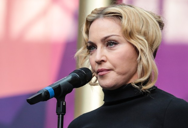 "Madonna no ""Sound for Change"" (Foto: Redferns/ Agência Getty Images)"