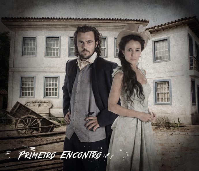 Xavier e Joaquina: uma relação explosiva (Foto: Arte de Fabrício Bianchi em fotos de Felipe Monteiro/Gshow)