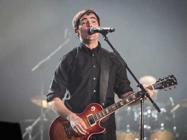 Samuel Rosa, do Skank, em show em homenagem aos 30 anos do Rock in Rio (Foto: Fabio Tito/G1)