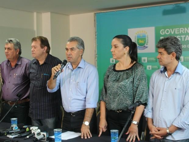 Governador divulgou nomes de 12 dos 13 secretários em MS (Foto: Graziela Rezende/G1 MS)