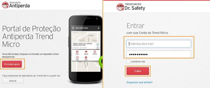 Acesse o link do mobile security para localizar o celular perdido (Foto: Reprodução/Barbara Mannara)