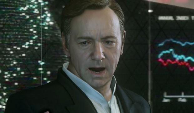 Kevin Spacey em cena de 'Call of Duty: Advanced Warfare' (Foto: Divulgação/Activision)