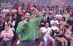 Plateia do Tudo pela Audiência serve de inspiração para Tatá e Rafael Queiroga em funk improvisado