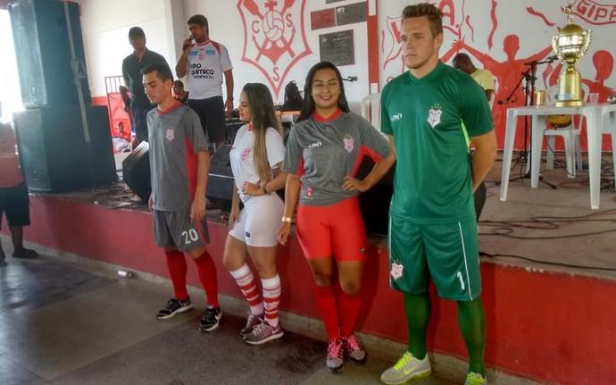 sergipe, uniformes, apresentação (Foto: Eduardo Rocha / CSS)