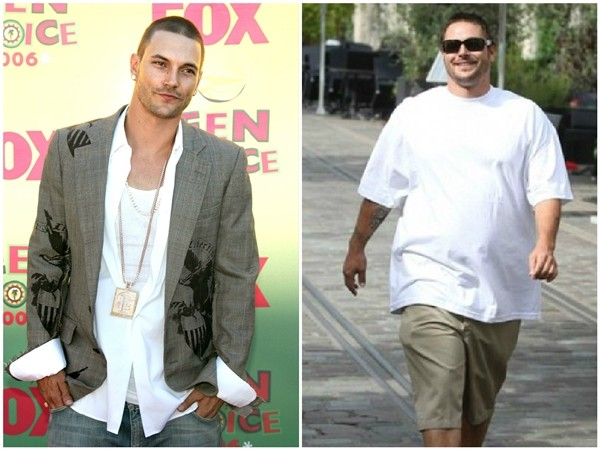Kevin Federline em 2006 e 2010 (Foto: Getty Images)