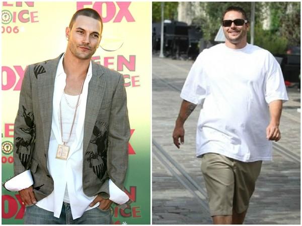 Kevin Federline em 2006 e 2010 (Foto: Getty Images)