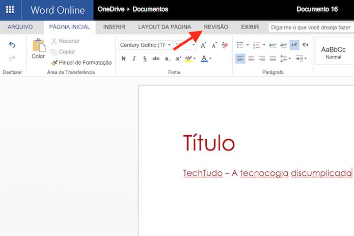 Como usar o corretor ortográfico do Word Online   Dicas e Tutoriais