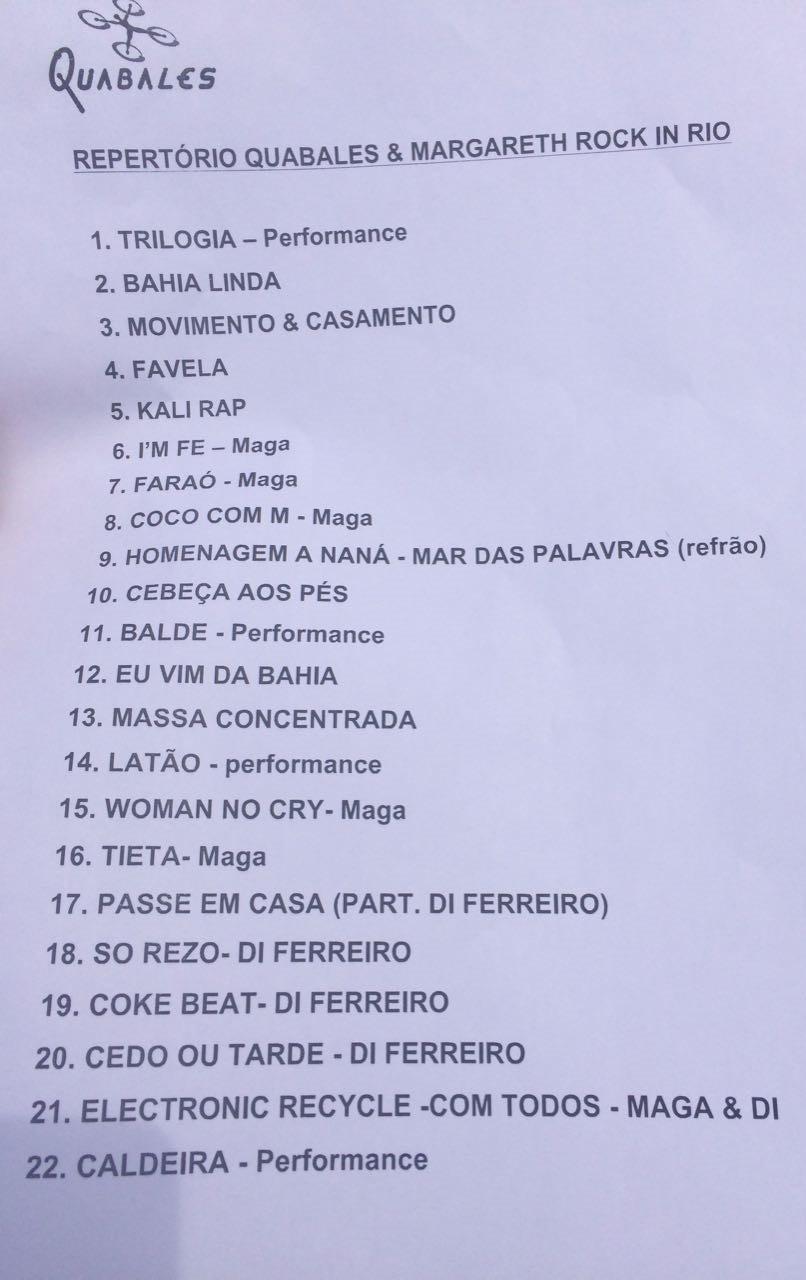 Setlist do primeiro show do Palco Sunset, que comea s 15h (Foto: Reproduo)