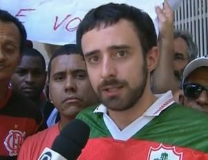 Torcedor Portuguesa Júlio Caldeira STJD (Foto: Reprodução SporTV)