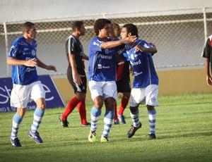 Confiança comemora vitória sobre o River Plate por 3 a 0 (Foto: Filippe Araujo / Divulgação)
