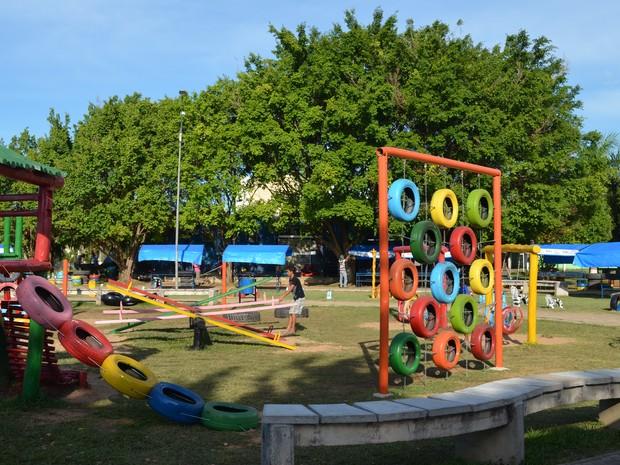 Top G1 - Praça de Ji-Paraná, RO, recebe playground ecológico feito com  BM24