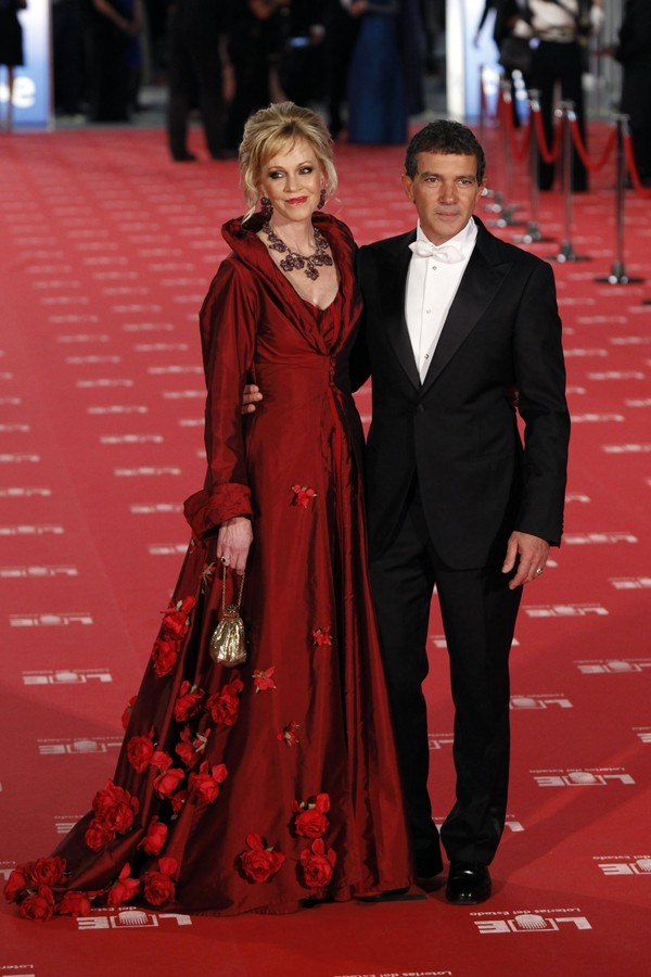 Os atores Melanie Griffith e Antonio Banderas (Foto: Getty Images)