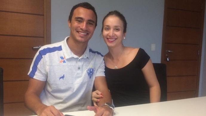 Alfredo e a esposa (Foto: Jorge Sauma/GloboEsporte.com)