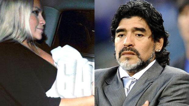 Diego Maradona reconhece legalmente seu filho recém-nascido (Foto: Reprodução)