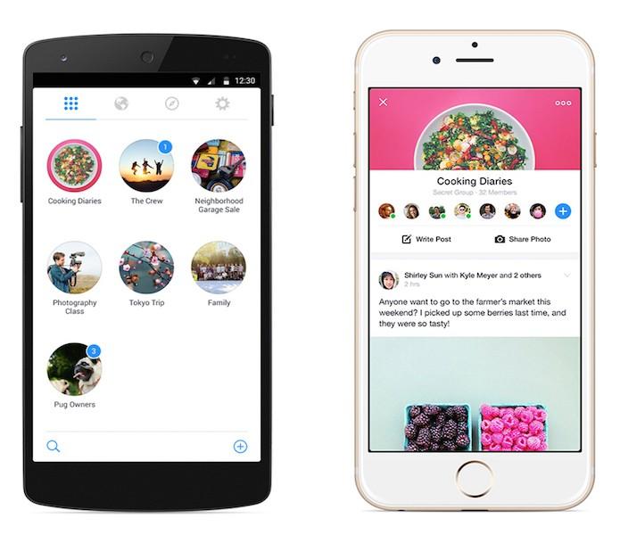 O app está disponível para Android e iOS (Divulgação/Facebook)