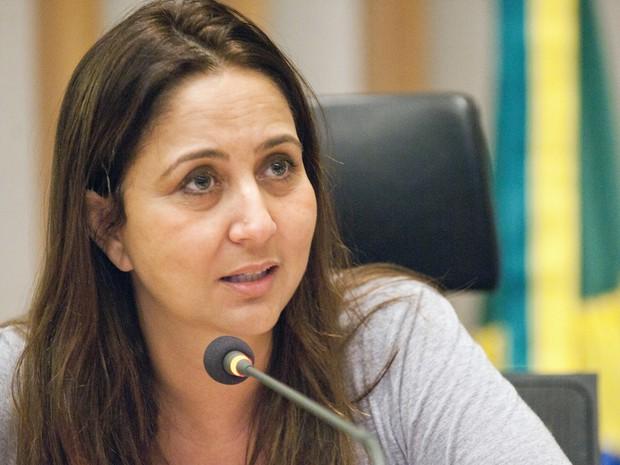 A deputada Liliane Roriz (PTB) durante sessão na Câmara Legislativa do DF (Foto: Câmara Legislativa/Divulgação)