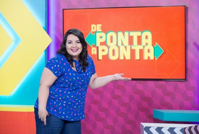 Renata Golombieski é a nova apresentadora do De Ponta a Ponta (Foto: Divulgação / TV TEM)