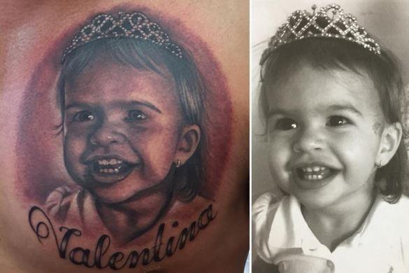 Ceará homenageia filha com tatuagem (Foto: Instagram / Reprodução)