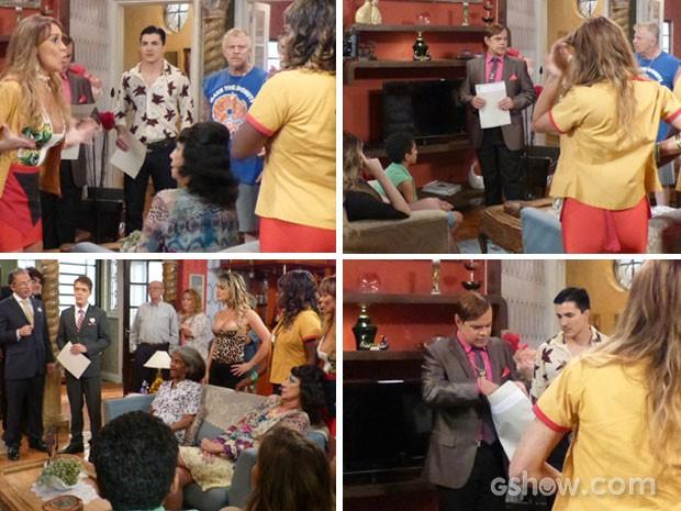 Zòltan abre envelope com exame de DNA (Foto: Pé na Cova/TV Globo)
