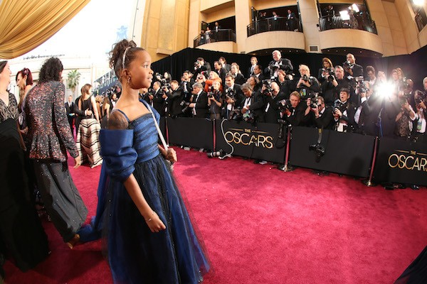 A atriz Quvenzhane Wallis no Oscar (Foto: Getty Images)