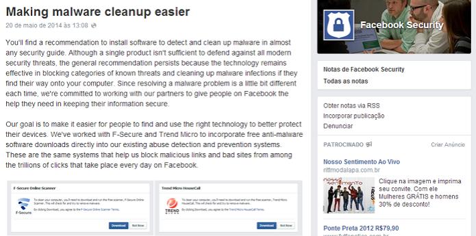 Facebook anunciou nova medida de segurança (Foto: Reprodução/Thiago Barros) (Foto: Facebook anunciou nova medida de segurança (Foto: Reprodução/Thiago Barros))