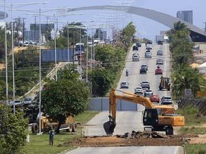 Outro trecho da BR-101 em Natal está interditado desde o dia 17 de setembro (Foto: Canindé Soares)