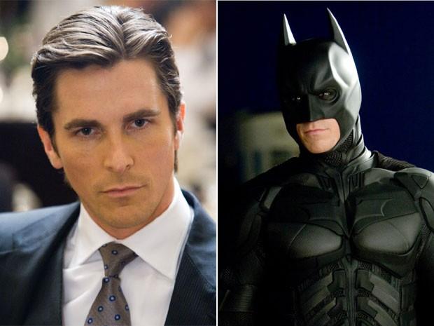 Christian Bale como Bruce Wayne e Batman; o ator galês viveu o herói em três filmes, todos dirigidos por Christopher Nolan (Foto: Divulgação)