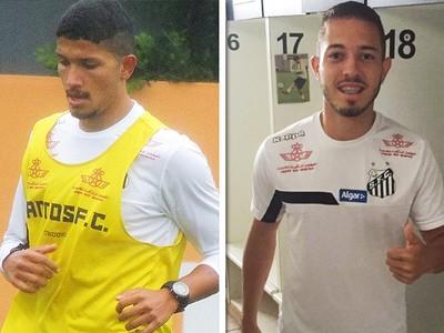 Yuri e Jean Mota, reforços do Santos (Foto: GloboEsporte.com)