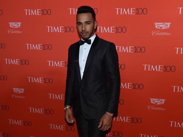 Lewis Hamilton em evento em Nova York, nos Estados Unidos (Foto: Timothy Clary/ AFP)