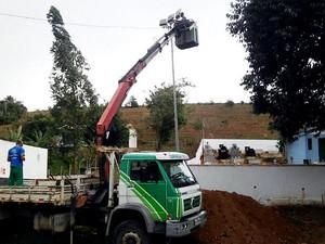 Local recebeu iluminação em Campos  (Foto: Divulgação/Prefeitura de Campos)