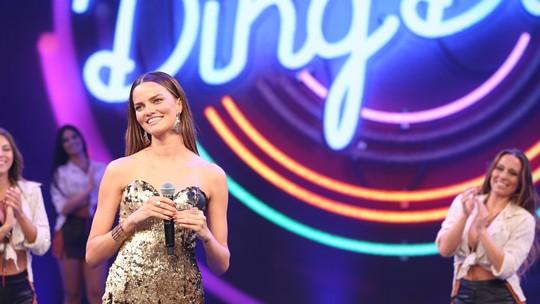 Barbara Fialho, top internacional, diz como foi cantar no palco do 'Domingão'