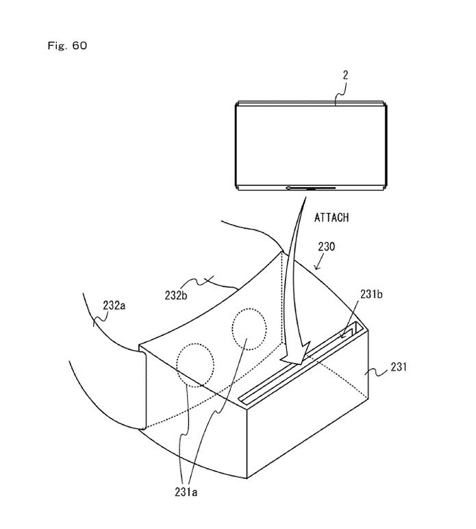 Patente de aparelho que permite realidade virtual com o Switch (Foto: Reprodução/US Patent & Trademark Office)