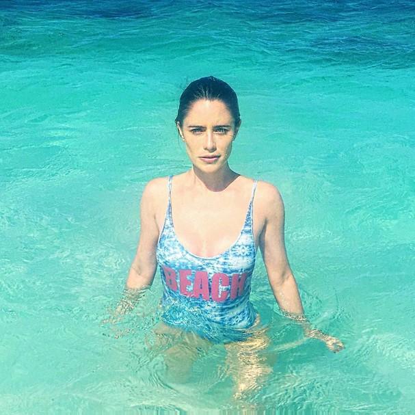Fernanda Vasconcellos em Anguilla (Foto: Reprodução Instagram)