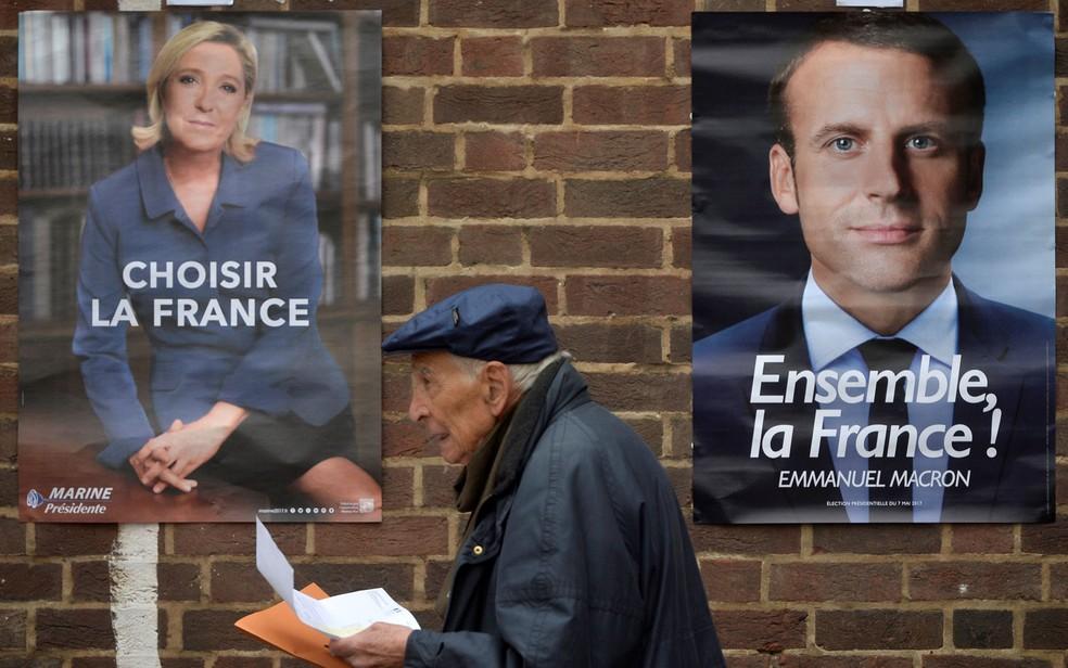 Sociedade francesa está dividida: 50% dos eleitores votaram em candidatos extremistas no 1º turno (Foto: Reuters/Hannah McKay)