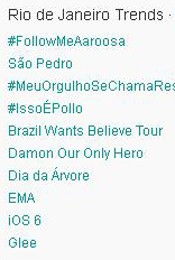 Trending Topics no Rio às 17h03 (Foto: Reprodução)