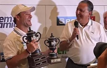 Barrichello vence torneio de golfe organizado por Galvão nos EUA