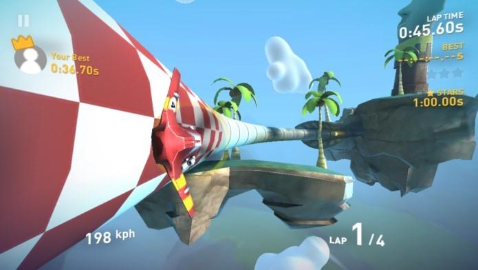 Fases bonitas e um visual incrível neste belo jogo com aviões (Foto: Divulgação)