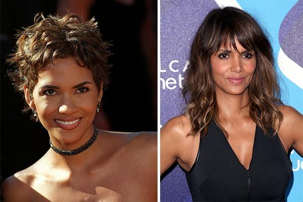Halle Berry ('X-Men') com 33 anos em 2000 e, atualmente, com 48 anos (Foto: Getty Images)