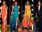 Elie Saab aposta em superfendas e decotes profundos em desfile na semana de moda de Paris