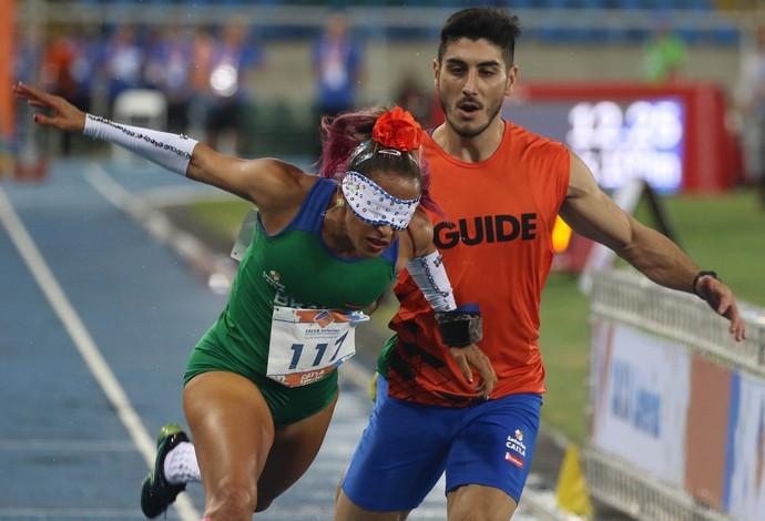 Terezinha Guilhermina medalha de ouro 100 T11 evento-teste atletismo (Foto: Fernando Maia/MPIX/CPB)