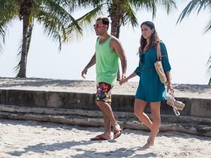 Carol Castro e Rodrigo Sant'anna em 'Um suburbano sortudo' (Foto: Divulgação)